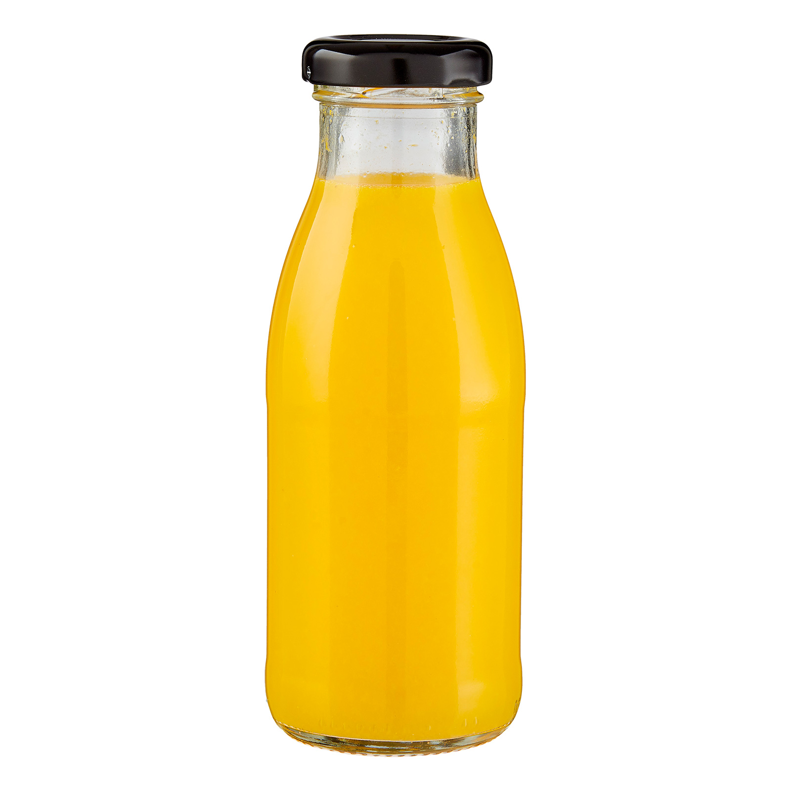 Mandarinensaft in der Flasche
