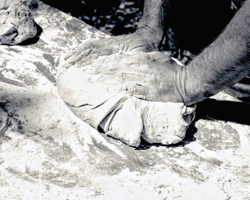 Herstellung des Dakos Zwieback