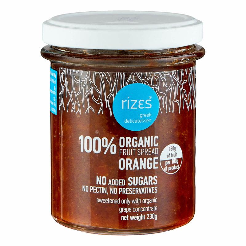 Orangenmarmelade Bio im Glas von Rizes