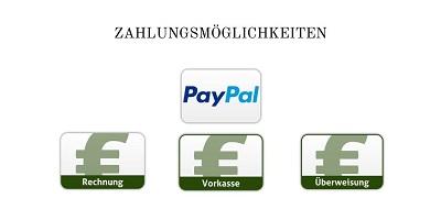 Zahlungsmöglichkeiten von Physi Online Shop