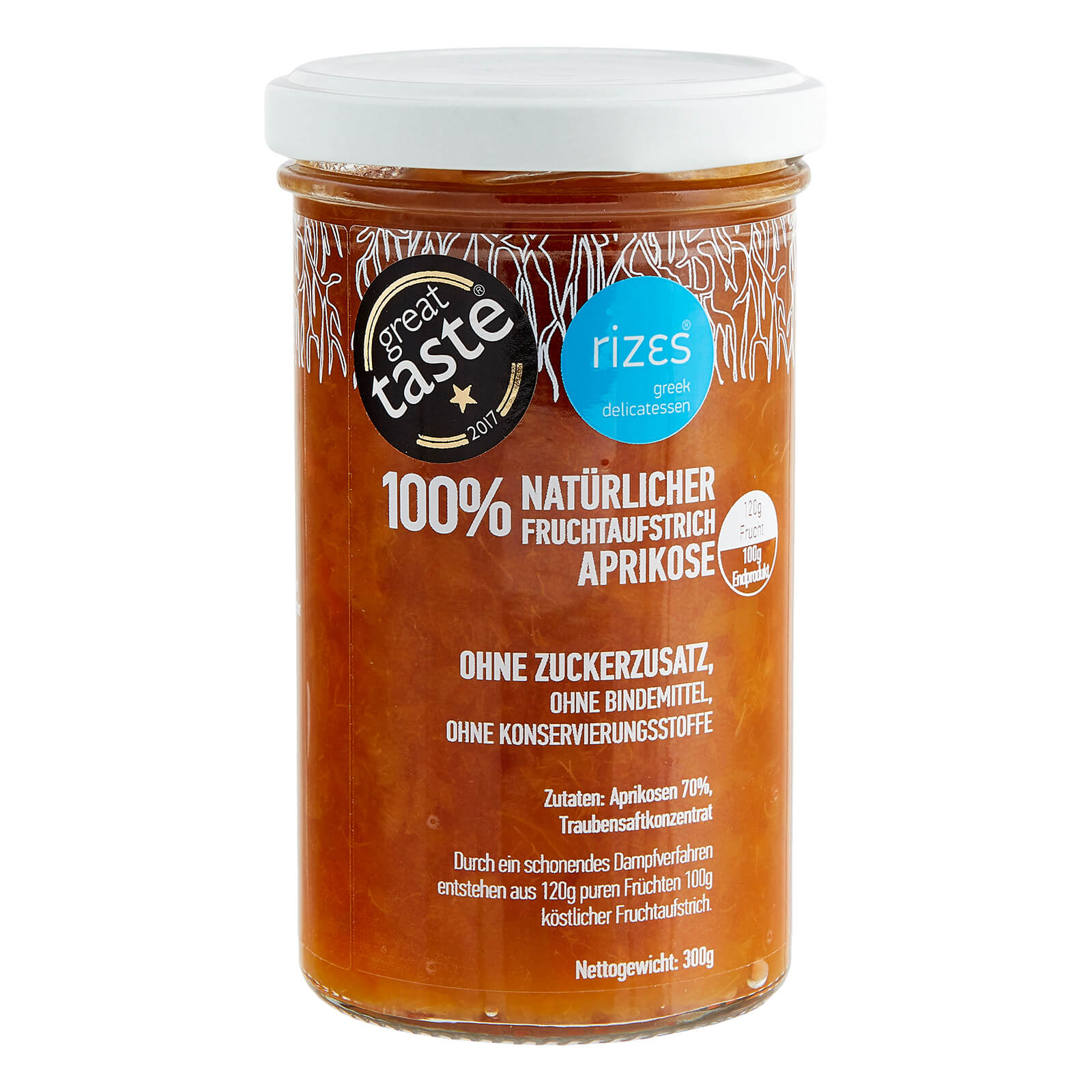 Aprikosen Marmelade ohne Zucker im Glas