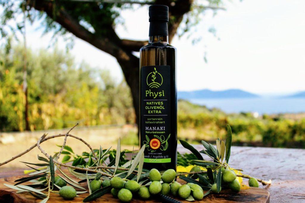 Physi Feinkost mit Manaki Olivenöl