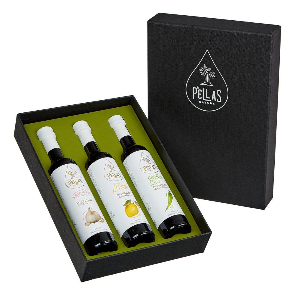 Geschenkideen Infused Olivenöle