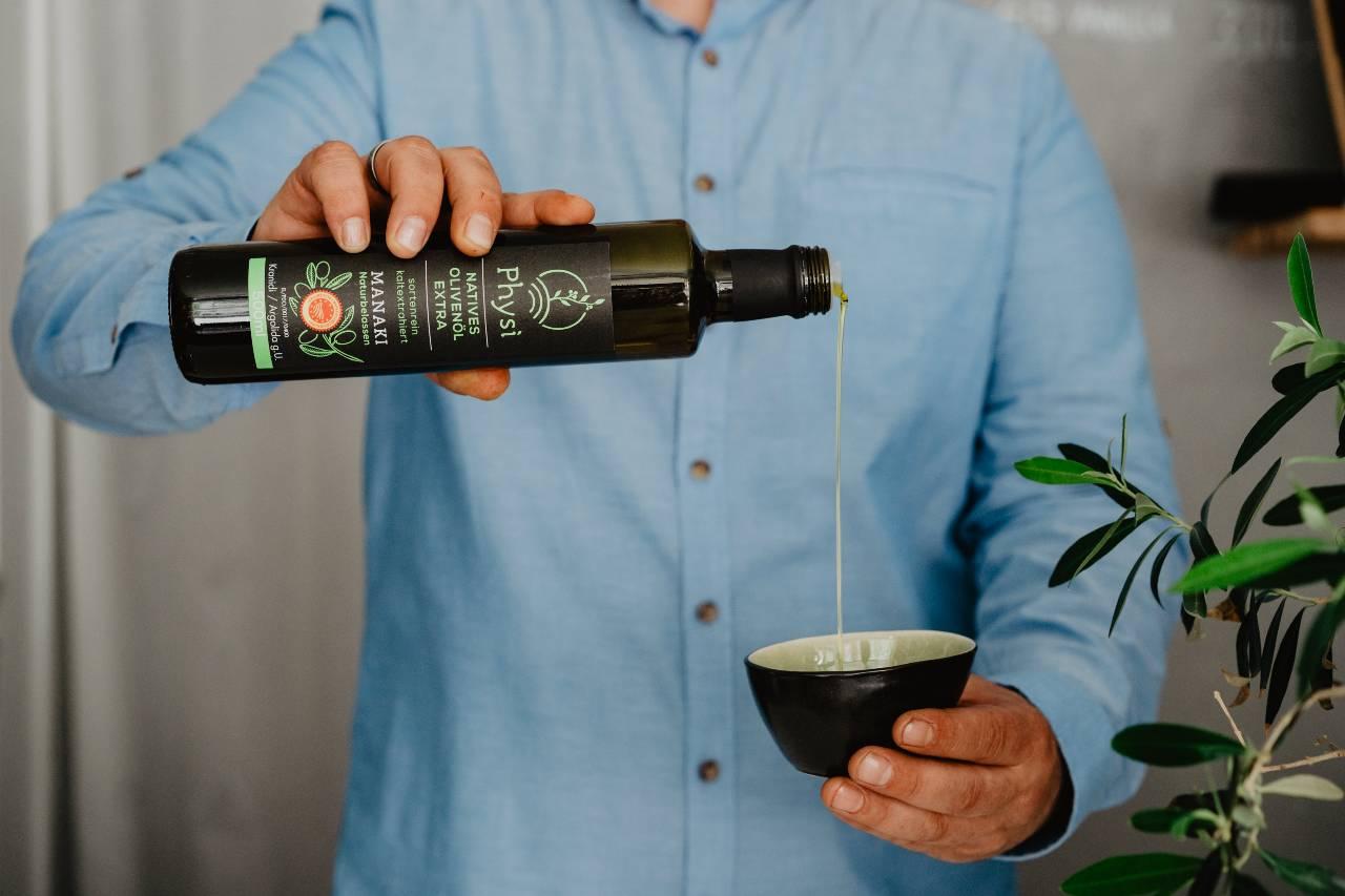 Olivenöl von Physi im Feinkostladen Ludwigsburg