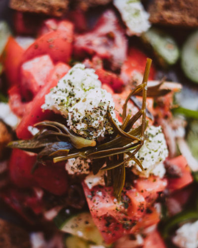Authentischer Hirtensalat aus Kreta